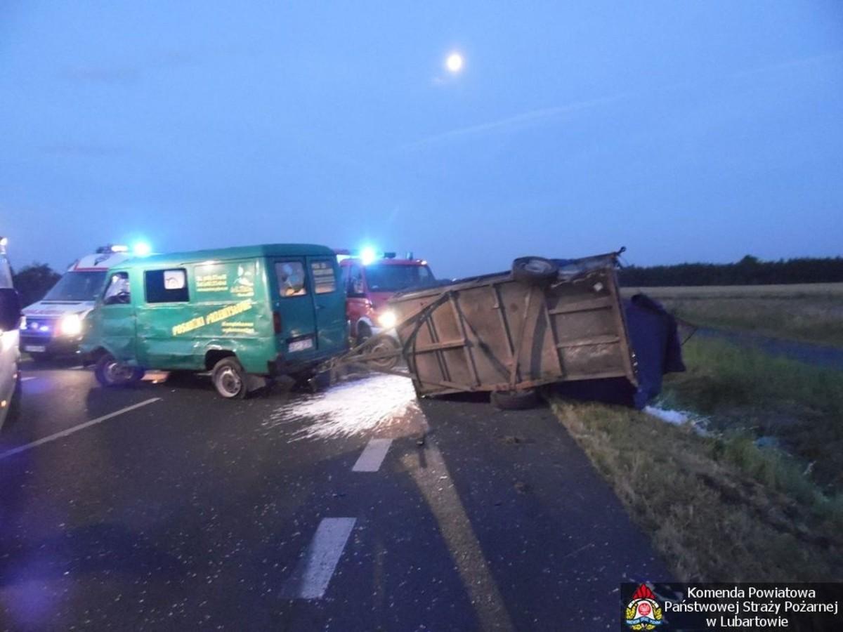 2014.07.14. Wypadek Kleberga - Obwodnica Lubartowa 2