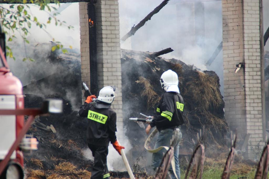 Z pożarem walczyły cztery zastępy strażaków (fot. PL)