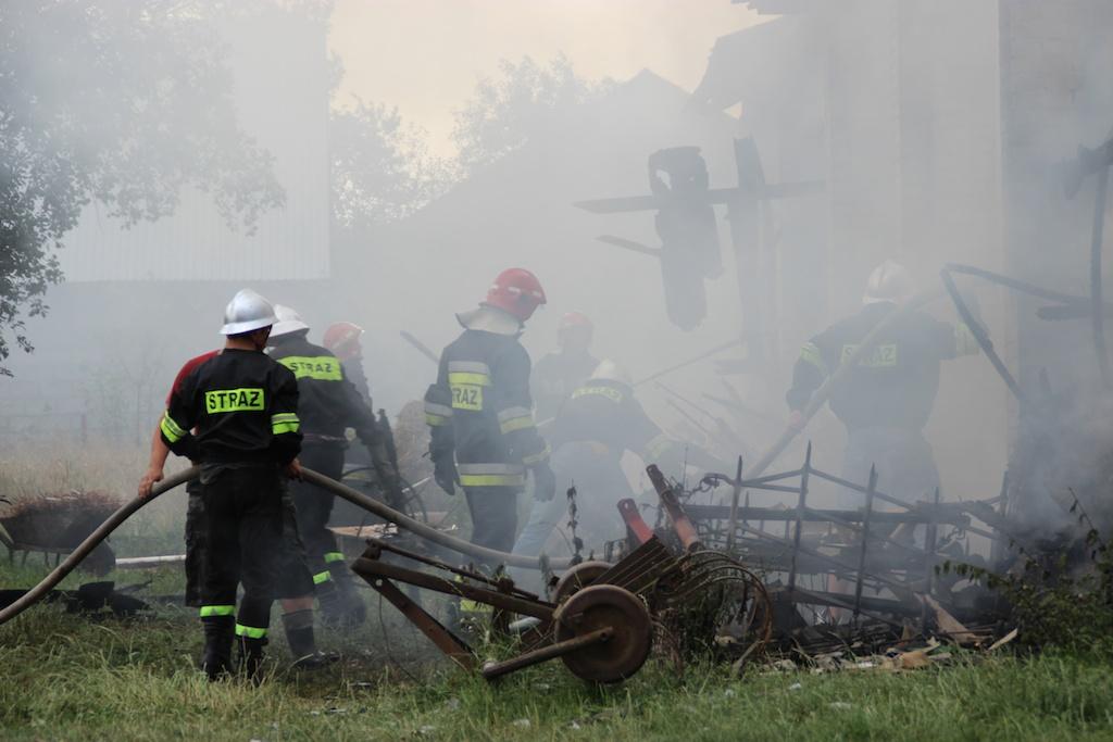 Pożar Stodoły w Wielkiem (fot. PL)