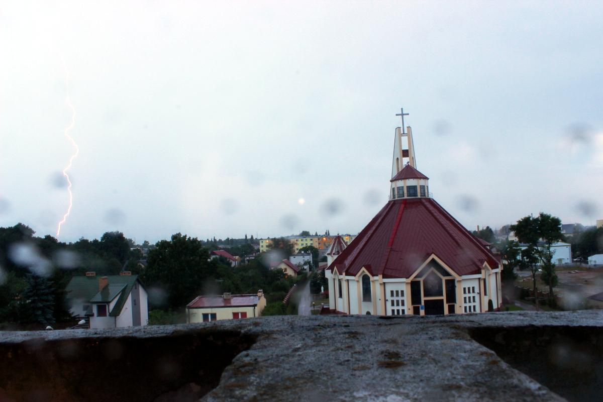 Burza nad Lubartowem. Fot czytelnik