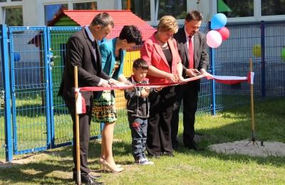 Otwarcie placu zabaw w Samoklęskach (fot. PL)
