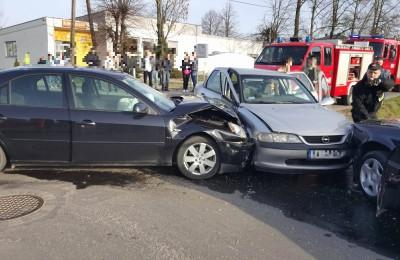 Wypadek w Lisowie. Fot. czytelnik Piotr