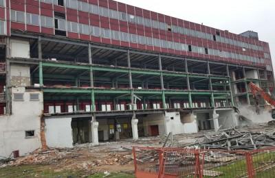 Kasprzak w Lubartowie - rozbiórka budynku
