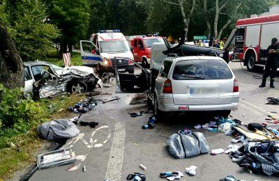 Wypadek w Kozłówce. Fot. Lublin112